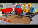 Traktor Czerwony Traktorek Animacje Agricultural Machinery Tractor Fairy Tale for Kids