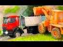 Мультфильм про машинки Грузовик и Трактор В городе Сборник Все Серии Видео для д