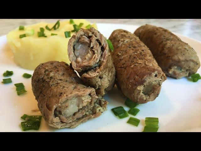 Мясные Пальчики из Свинины с Салом / Крученики / Meat Fingers Recipe / Простой Рецепт (Нежное Блюдо)