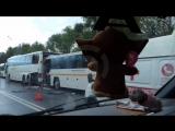 В Подмосковье 13 человек пострадали в аварии с двумя автобусами