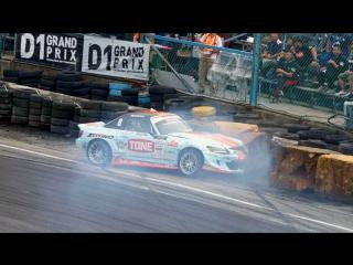 Tetsuya Hibino Crash (D1GP 2017 - Round 6 - Tanso Final / Ebisu Circuit)