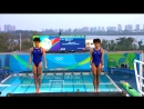 Chinese pair wins Womens Synchronised Diving 10m gold :-))