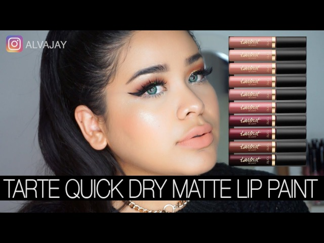 Tarte Quick Dry Matte Lip Paints | Swatches 10 colors