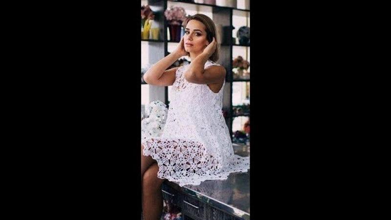 Tutorial crochet vestido de boda paso a paso /how to do (subtitulos in several lenguage)