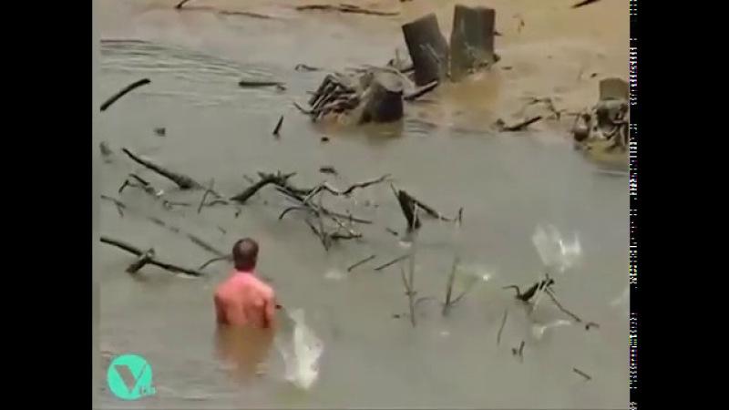 Приколы. Неуклюжие рыбаки.