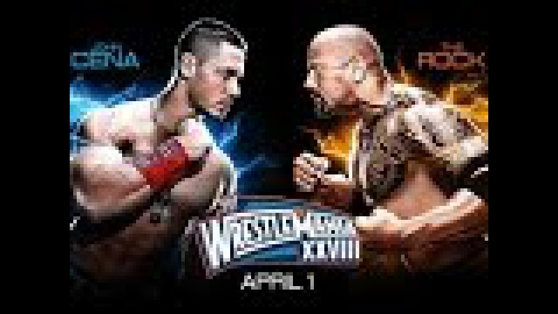 WWE Wrestlemania 28 - John Cena vs The Rock - Full Match