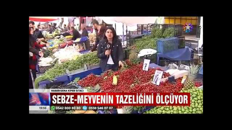 Türkiyede sebze ve meyvenin tazeliğini anında ölçen cihaz geliştirildi