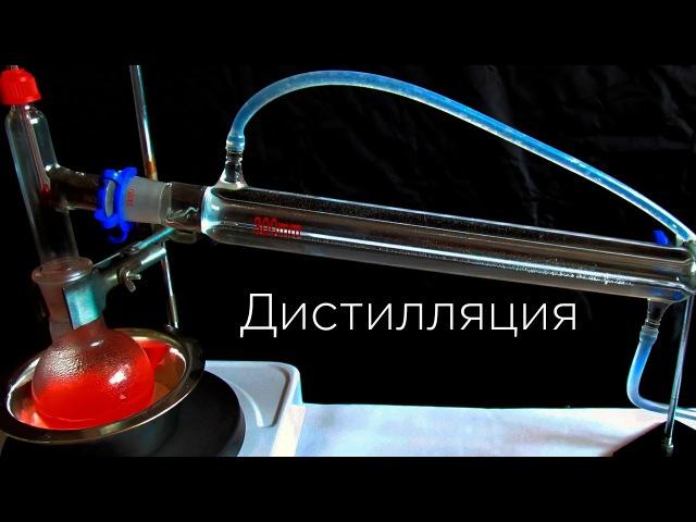 Простая дистилляция Тест оборудования и дистилляция воды