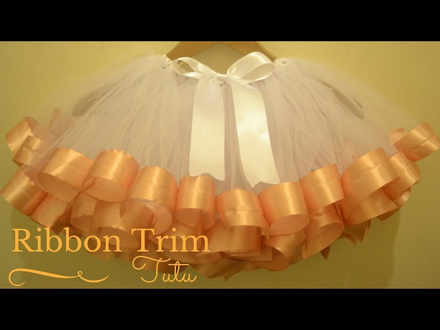 How to Make Ribbon Trimmed Tutu Skirt: DIY Tutu Skirt