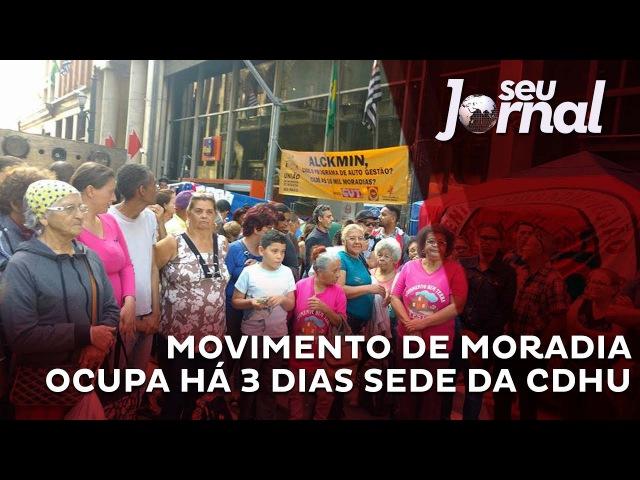 Militantes por moradia ocupam sede da CDHU no centro de São Paulo
