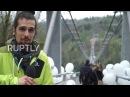 Германия Не смотри вниз! Самый длинный в мире пешеходный подвесной мост открывается в Гарце.