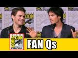 THE VAMPIRE DIARIES Season 8 Comic Con Panel (Part 2) - Ian Somerhalder, Kat Graham, Paul Wesley