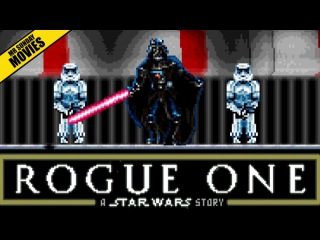 16 Bit DARTH VADER Rogue One Ending Scene