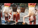 Stunning Upside Down Kung Fu, performed by students in C China