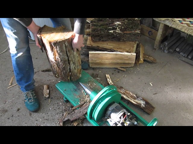 Дровокол с двигателем от стиральной машины (Wood splitter with the engine from the washing machine)