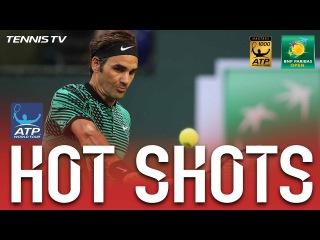 Federer Thumps Twin Backhand Hot Shots vs. Nadal At Indian Wells 2017