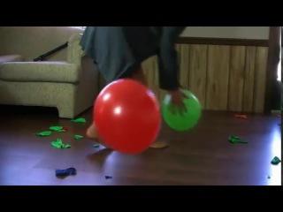 Pop using bare feet