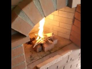 Русская печь с камином