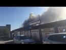 Пожар в Петербурге: съёмка с места событий