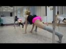 Обычная тренировка Pole-Exotic в Dance de Vole с Ольгой Гуськовой