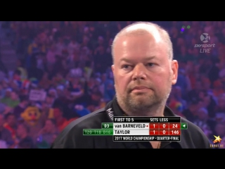 Raymond van Barneveld vs Phil Taylor (PDC World Darts Championship 2017 / Quarter Final)