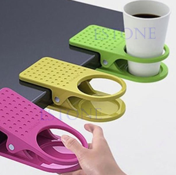 Мобильный подстаканник! Очень удобная штука!  https://ru.aliexpress.com/store/product/Free-Shipping-Drink-Cup-Coffee-Holder-Clip-Desk-Table-Home-Office-Use/1201705_32409767318.html?detailNewVersion=&categoryId=200043145