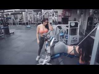 Dolly Castro and Ashley Kaltwasser Gym Workout