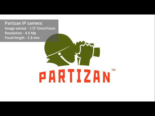 Indoor IP camera Partizan with sensor 1/3 OmniVision (4.0 MP) (detalization) (Day)