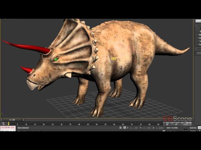 29 урок - Продвинутый моделинг в 3dsMax и Mudbox (Динозавр) » Freewka.com - Смотреть онлайн в хорощем качестве