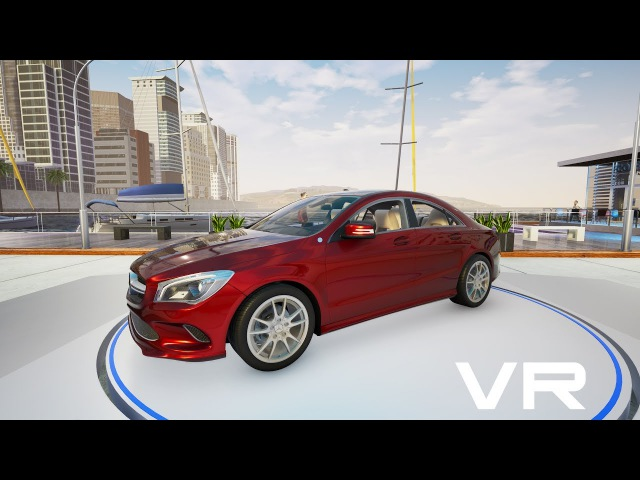 MB CLA 180 VR configurator. Unreal Engine 4