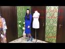 Как без выкройки сшить платье с воланом? видео шитья часть 1