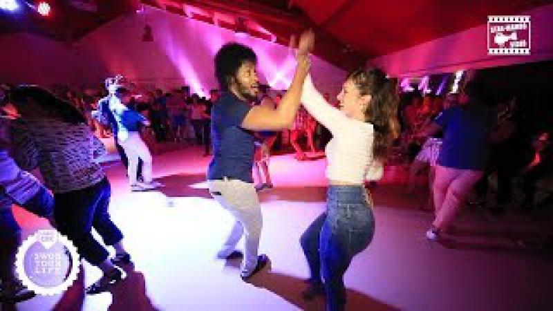 Terry SalsAlianza, Achile Dinga & Marie Cazorla - social dancing @ SWOB 2017