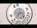 Decoupage zegar z różami - DIY tutorial