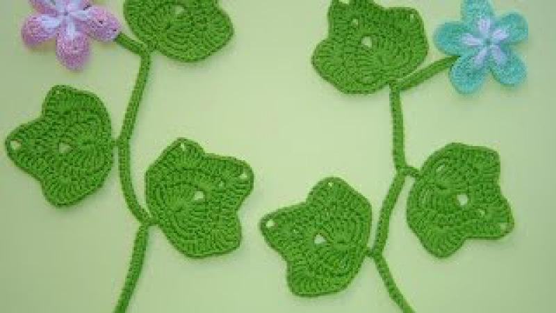 Como tejer hojas a crochet paso a paso fácil DIY