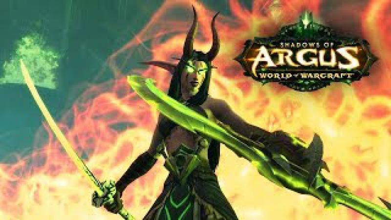 WoW Legion 🌟 Player Character Meets Aggramar in a Cutscene
