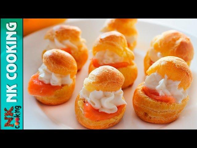 Профитроли со Сливочным Сыром и Сёмгой ♥ Закуски на Праздничный Стол ♥ Рецепты смотреть онлайн без регистрации