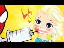 Человек паук против Эльзы Замороженная Эльза у Доктора Лечит зубы