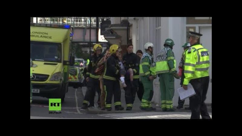 Mutmaßlicher Terroranschlag: Nach Explosion in Londoner U-Bahn - Verletzte werden evakuiert