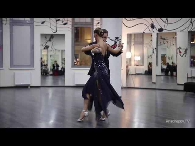 Ирина Остроумова и Александр Якушев. Milonga в Касабланке 12.11.2016