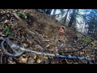 ML45 Раскопки немецкого блиндажа WW2 dugout excavations HD SUB