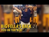 Fat Guy Dancing Juju On That Beat | The Big Fella's Back! (Football Locker Room)