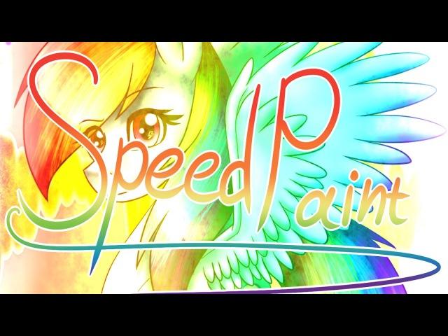 MLP SpeedPaint:Rainbow Dash