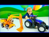 Машины BRUDER для детей. Трактор Экскаватор Погрузчик Мусоровоз Самосвал. Машинки все серии