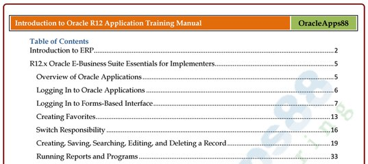Oracle Apps Pdf