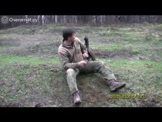 Храбрый глухарь и охотник