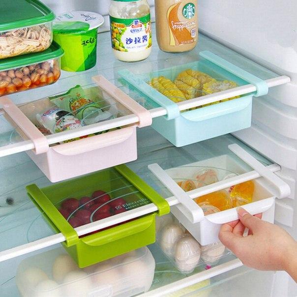 Дополнительные ящики для холодильника!  Очень Удобно!  https://ru.aliexpress.com/store/product/New-2016-fashion-kitchen-convenient-storage-box-refrigerator-bedroom-living-room-space-saving-multi-function-storage/2347241_32711256372.html?detailNewVersion=&categoryId=154102
