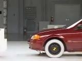 Crash Test 1999 - 2003 Mazda 323 - Familia - Protege IIHS (Frontal Offset)