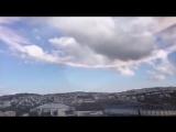 Небо над Иерусалимом после вскрытия Гроба Господня.
