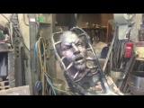 Ибрагимович показал голову своей статуи