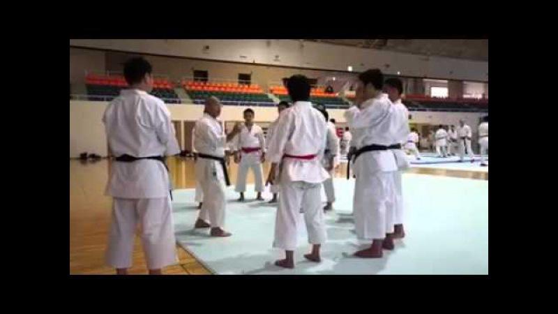 Karate training with Japan team